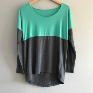 ALO Yoga Aura Colorblock Long Sleeve Tee S